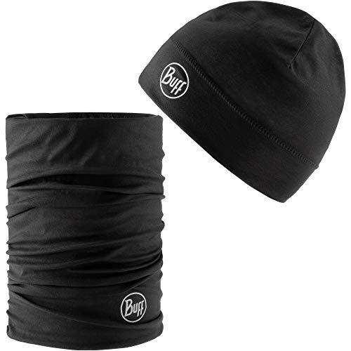 Buff Set aus Mütze und Multifunktionstuch Beanie schwarz Einheitsgröße