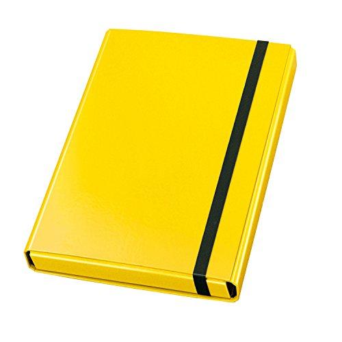 Veloflex 4443310 Sammelbox Velocolor, DIN A4, mit Gummizug, Dokumenten-Box, Heft-Box, aus Karton, gelb