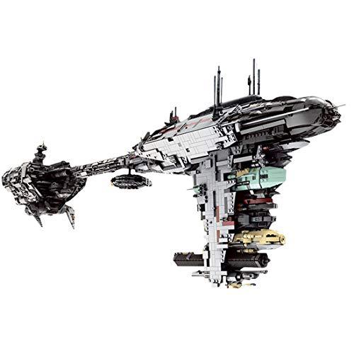 PEXL Technik Weltraumfregatte Modell, 6388 Teile Groß Escort Frigate Raumschiff Bauset, Bausteine MOC Klemmbausteine Set Kompatibel mit Lego Raumschiff