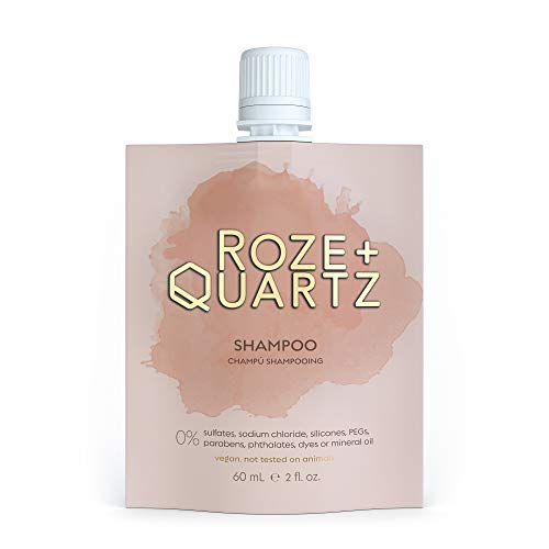 Roze + Quartz Paraben, Silicone & Sulfate Free Shampoo | Salon Grade Moisturizing Shampoo for Dry Damaged Hair | Hydrating Shampoo for Color Treated Hair & All Hair Types | Cruelty Free Vegan Shampoo
