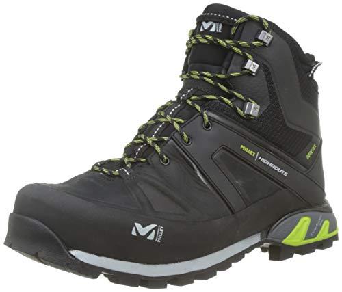Millet High Route GTX M, Chaussures Hautes de Randonnée Homme, Noir/Vert Fluo, 46 EU