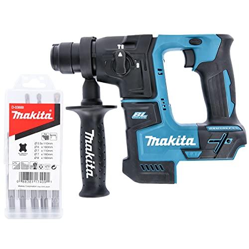 Makita DHR171Z 18v Cordless SDS+ Rotary Hammer Drill + Makita D-03888 Bit Set