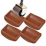 Yupeak Bed Stopper & Furniture Stopper – Caster Cups fits to All Wheels of Furniture, Sofas, Beds, Chairs – Furniture Cups Made up of Solid Silicone and Prevents Scratches 4PACK(Dark Brown)