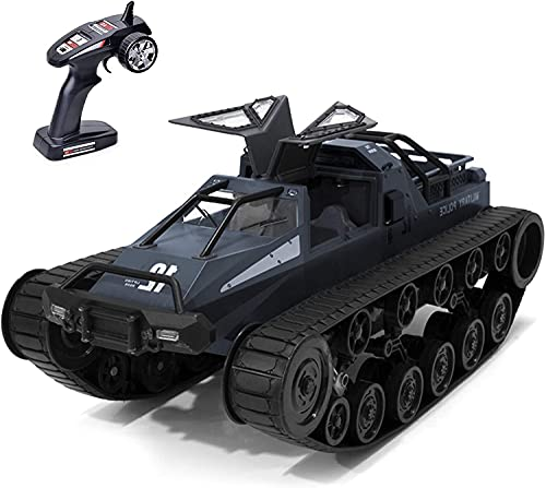Remote Control Crawler, 1:12 Scale Off-Road Tank, 2.4Ghz Radio RC Car, 4WD High Speed All Terrain RC Truck for Kids & Adult(Black)