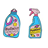 LAVALINK Pulire Pulsante Repellente Grande Bottiglia Vernice Spilla Detergente Pin Per Giacche Distintivo Doni 2 Parti/Insieme