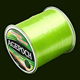 45532rr Japanische Material Monofil Karpfen Angelschnur 7.0# 0.45mm 16.4kg Tension 500 Extra Strong Imported Rohseide Nylon Angelschnur (Grass Gelb) (Color : Color1)