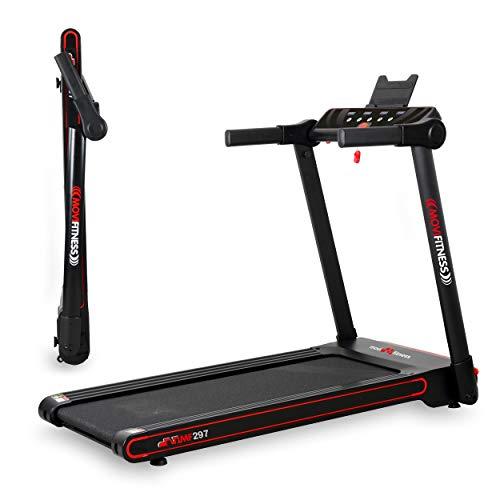 Movi Fitness Tapis roulant Professionale MF297, Pieghevole salvaspazio, Bluetooth, App Fitshow, Elettrico,12 km/h,Top di Gamma,Motore 2,5 HP Max, Extra Slim