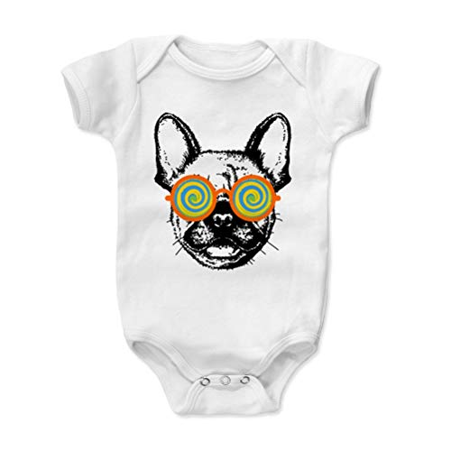 Bald Eagle Shirts French Bulldog Baby Clothes, Onesie, Creeper, Bodysuit - Frenchie Shades (White, 6-12 Months)