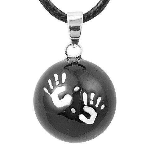 Eudora armonía bola bebé manos negro Musical colgante embarazo timbre Bell Collar, 45cm Cable