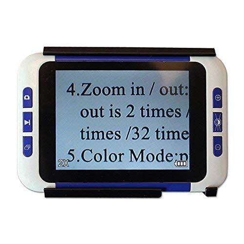 Saiko 3.5 Pulgadas Lupa Digital, Lupa de Lectura Electrónica Portátil Handheld LCD Pantalla bajo Vision Lectura Ayuda con Ajuste de ampliación para Personas Mayores, Soporte de Salida de TV (# 1)