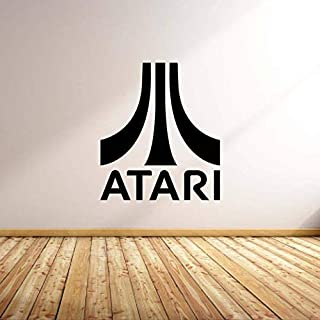 Teisyouhu Decorative Vinyl Wall Sticker Atari Logo Decal Inspired by Atari Man Cave Decal for Living Room Decoration