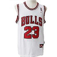 SWW Camiseta Deportiva para Hombre de la NBA Michael Jordan #23 de los Chicago Bulls, Color Blanco, tamaño Large