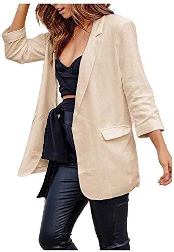 Abrigo de chaqueta casual de manga larga para mujer