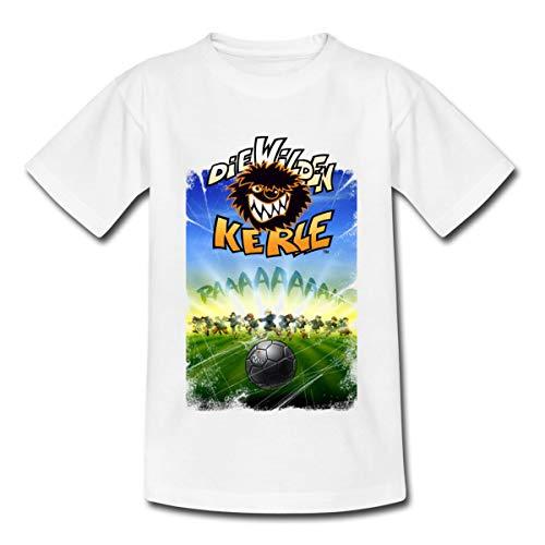 Die Wilden Kerle Angriff Teenager T-Shirt, 152/164 (12-14 Jahre), Weiß