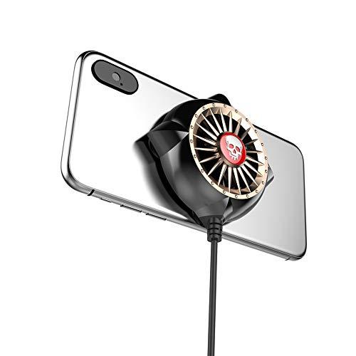 Draagbare mobiele telefoon radiator, USB cooling pad radiator fan geschikt voor gaming slimme stille radiatorregelaar