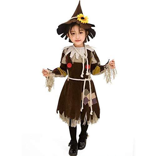 Halloween-Kostüm-Abend verkleiden Kindergärten Mädchen wenig Stroh Kinder hässlichen Drama-Stage Performance Outfit YMIK (Size : XS)