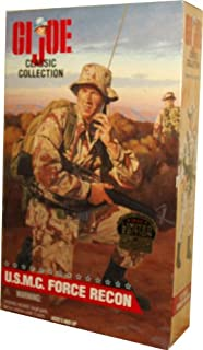 G.I. Joe Classic Collection 1998 Limited Edition 12 Inch Tall Soldier Action Figure - United States Marine Corps U.S.M.C Force Recon with Boonie Style Hat, Shirt, Pants, Web Belt, Backpack with Frame, Boots, Radio with Antenna and Handset Plus Dog Tags