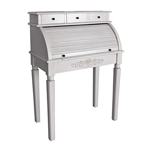 International Caravan Furniture Piece Carved Wood Roll Top Desk (Kitchen)