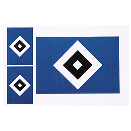 HSV Hamburger SV Aufkleberkarte 3er-Set Saison 2017/2018