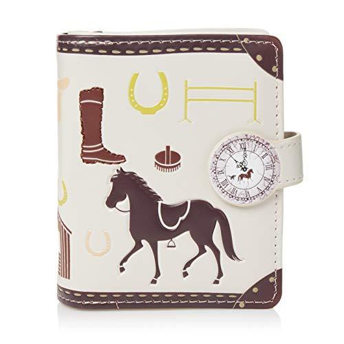 Shagwear portafoglio per giovani donne Small Purse : Diversi colori e design: (Bridal Cavalli/Bridal Horses)