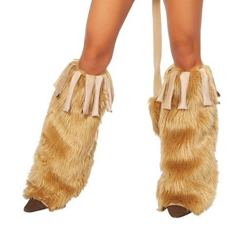Roma Costume Courageous Lioness Leg Warmer, Honey, One Size