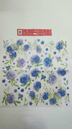 Tovagliolo in carta di riso 50×50 cm 14g Decoupage DFT116 Fiori