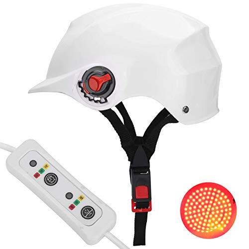 Dispositivo de tratamiento de pérdida de cabello con cuentas de lámpara de 118 piezas, casco de terapia de luz roja para el crecimiento del cabello para hombres y mujeres (blanco)
