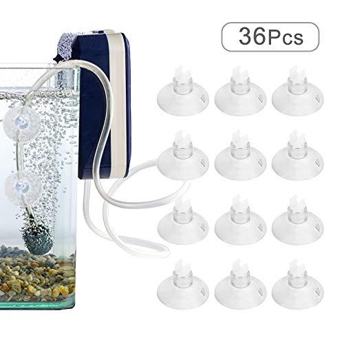MHwan Aquarium Saugnäpfe, Aquarium Clips, Aquarium Saugnäpfe für Luftleitung Schlauchpumpe, Luftleitung Rohrhalter Saugnapf Clips Schlauchhalter Clips, 36 Stück