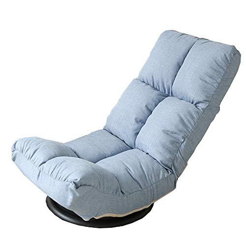 ZHFZD Lazy opvouwbare zitzak, ligstoel voor gelegenheidsspelen, vloerkussen, verstelbare ergonomische bank met 6 posities (kleur: lichtblauw) Size lichtblauw