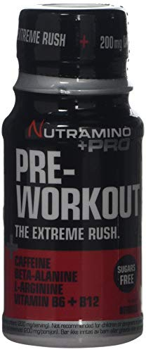 Nutramino +PRO Pre-Workout Shot, Berries, Pack of 12, 60 ml/0.720 Kg