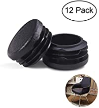 MELIFE 1 1/4 Inch Round Plastic Plug, Non-Slip Chair Caps Tubing End Cap, Durable Chairs Glide.(1.25