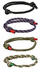 TOP-CLASS MATERIAL--Braided Nautical Bracelet Are Made of Top Class Marine Rope,Durable but Soft,Comfortable to Wear and Longer Time to Use. AFFORDABLE MENS COOL BRACELET--4 Pcs Mens Braided Rope String Bracelet a Set,Exquisite Set in a Reasonable Pr...