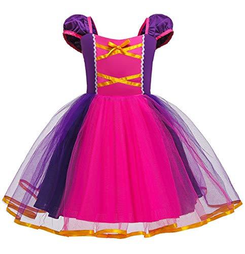 Le SSara Mädchen Prinzessin Schnee kostüm Phantasie fee Dressing up Cosplay Dress mit Cape (110, D81)