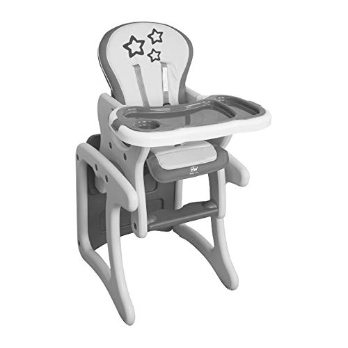 Happy Way Chaise haute Pupitre Chef Star Grey Smooth