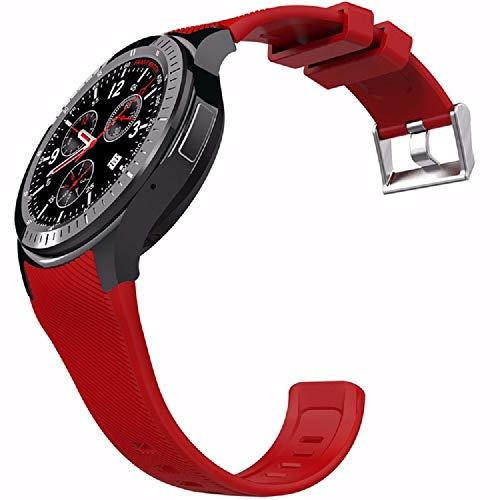 Android 5.1 3G Smart Watch teléfono Ritmo cardíaco Rastreador de GPS GPS WiFi para Hombres Mujeres RAM 512MB ROM 8GB Pulsera Inteligente Tarjeta SIM Teléfonos móviles