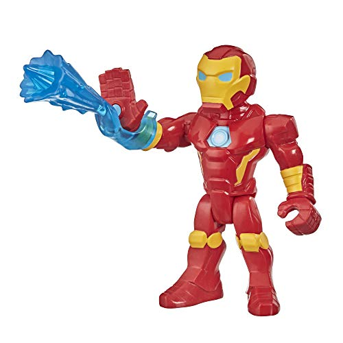 Super Hero Adventures Playskool Heroes Marvel Mega Mighties Iron Man Collectible 10-Inch Action Figure, Toys for Kids Ages 3 and Up