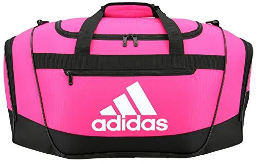 adidas Unisex Defender III Small Duffel Bag Team Shock Pink Small