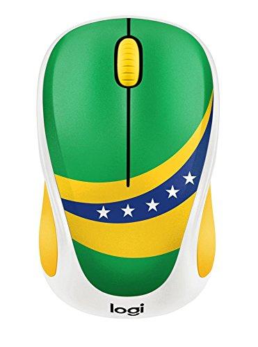 Logitech M238 Kabellose Maus, Fan Kollektion, 2.4 GHz Verbindung via Nano-USB-Empfänger, 1000 DPI Sensor, 12-Monate Akkulaufzeit, 3 Tasten, PC/Mac - Brasilien