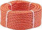 Triuso Mehrzweckseil Seil Tau Leine Schnur Kletterseil orange 20m- 6mm-