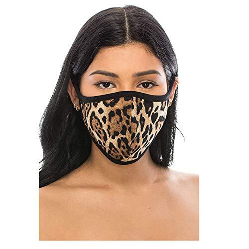 Gevbi Estampado de Leopardo para protección de Adultos Protección de Polvo Lavable y Reutilizable para Damas y Caballeros