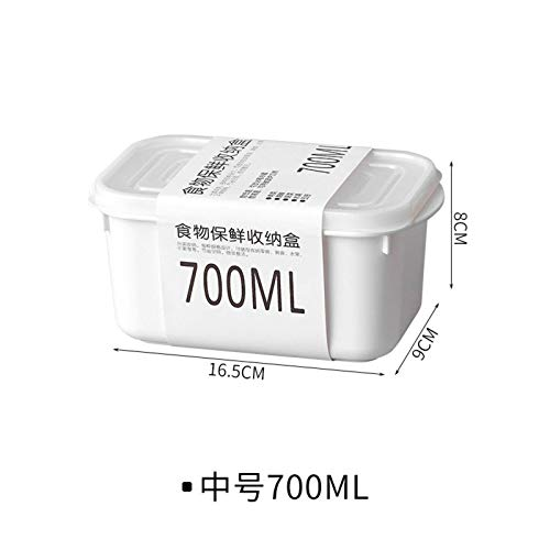N-B Caja de Almacenamiento para refrigerador, Caja sellada para Cocina, Caja sellada para Mantenimiento de Granos, Caja de Fideos para Mantenimiento Fresco, Caja para Bolas de Masa de Alimentos