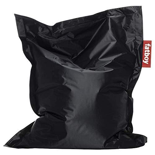 Fatboy® Junior schwarz | Original Nylon-Sitzsack | Klassisches Indoor Sitzkissen speziell für Kinder | 130 x 100 cm