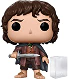 Funko Pop! Movies: The Lord of the Rings - Frodo Baggins #444 Vinyl Figure (Bundled with Pop BOX PROTECTOR CASE)