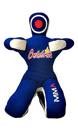 Celebrita MMA Judo Boxsack Grappling Dummy - sitzender Position Hände vor MMA382 Canvas - Blue 47