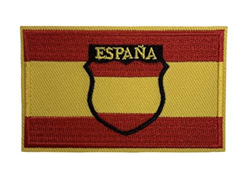 Gemelolandia | Parche Bandera de España Escudo de la Division Española de Voluntarios Division Azul 8x5 cm | Muy Adherentes | Patch Stickers Para Decorar Tu Ropa | Fáciles de Poner