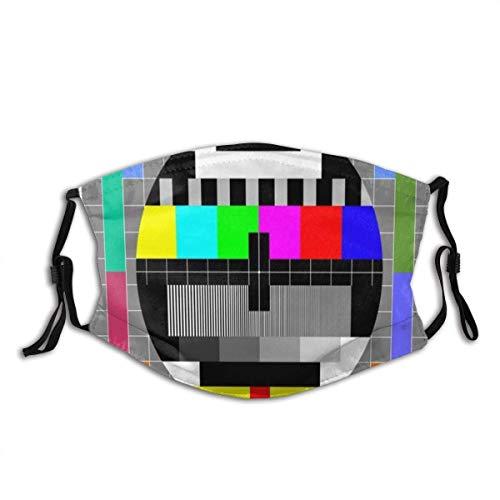 Gesicht Mas-Ke Video Pal Kreis Glitch TV-Test Regenbogen Klare Übertragung Orientalische Mehrfarben Abstrakte Muster Sturmhaube Mund Bandanas mit 2 Filtern