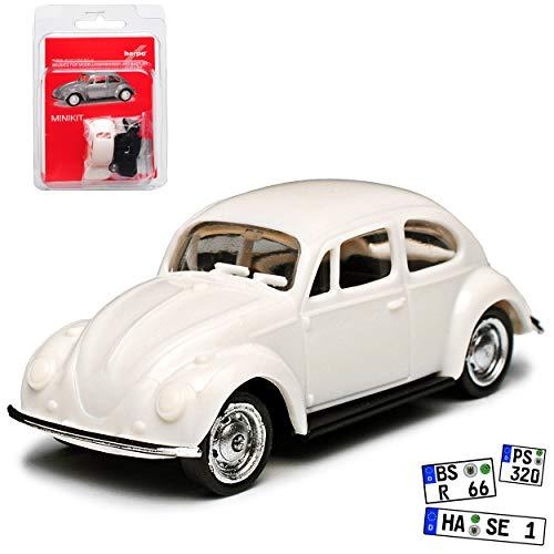 Volkwagen Käfer Coupe Weiss Bausatz Kit H0 1/87 Herpa Modell Auto