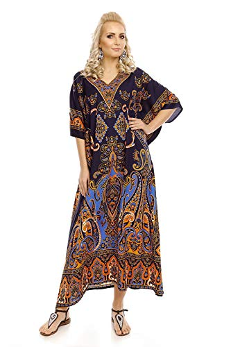Looking Glam Mujer Muy Grande Maxi Kimono Túnica Kaftán Vestido Kaftán tamaño Libre