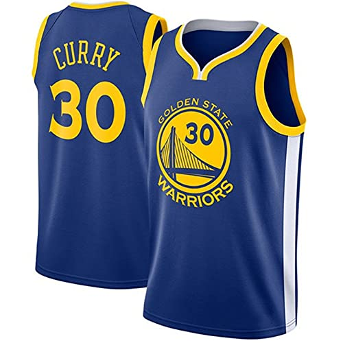 Maglia da Basket da Uomo NBA, Golden State Warriors # 30 Stephen Curry Uniforme da Fan del Basket T-Shirt in Tessuto Traspirante Fresco, Maglia Sportiva Unisex Senza Maniche