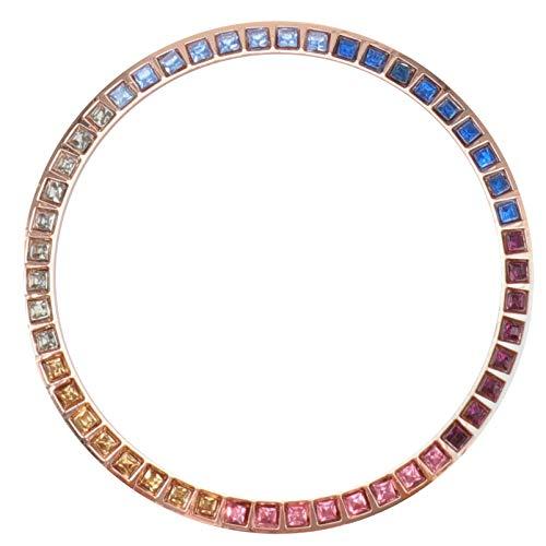 ibasenice Kompatibel für Samsung Galaxy Uhr 42Mm Lünette Strass Kristall Bling Diamant Frauen Männer Uhr Lünette Abdeckung Schutzring Roségold